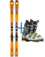 Sci e scarponi di gamma per sciatori professionali
