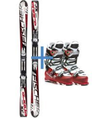 Skis and boots occasion to rent