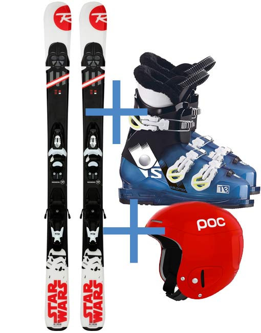 Junior Kit Skis Boots and Hlmet
