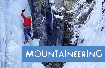MOUNTAINEERING Equipment to hire