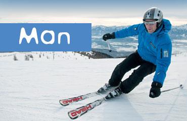 Man Equipment Ski Rental in Italy