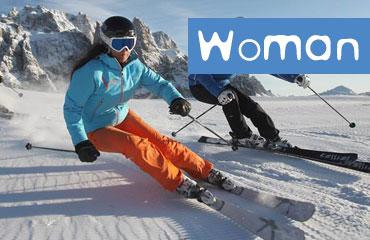Woman Equipment Ski Rental